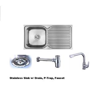 Kitchen Sink Package Set (Sink, PVC Fittings,Faucet) Price Philippines