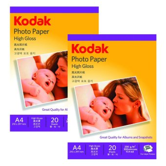 Kodak Inkjet Photo Paper, A4 Pack of 2 230GSM