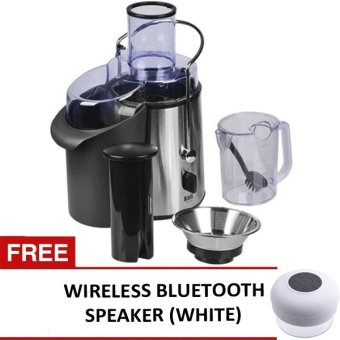 Koii Power Juicer (Silver) with FREE Wireless Bluetooth WaterproofShower Speaker with Dedicated Suction Cup (White)
