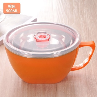 Korean style with lid large sealed container soup bowl instant noodle bowl