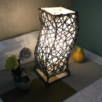 KrigKrafts, Native Nito Fiber Handicraft LED Lampshade, Desktop,Curved, 10 Inch Price Philippines