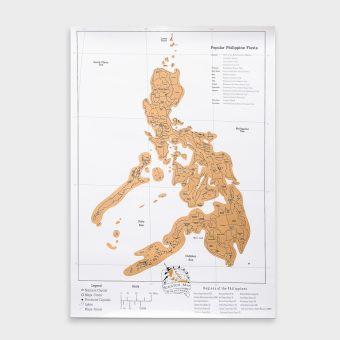 Kultura Philippines Scratch Map