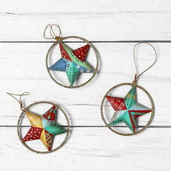 Kultura Star Ornaments (Set of 3)