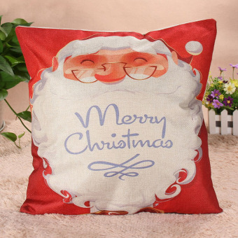 KUNPENG Christmas Cover Xmas Ambience Pillow Case Santa Claus - Intl