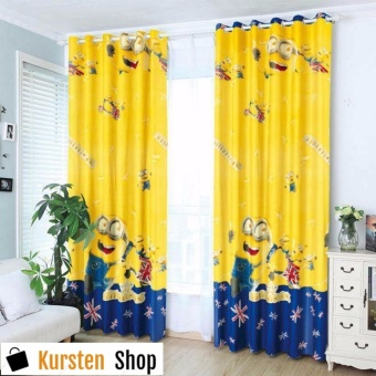 KurstenShop 2pcs MINI0NS COTTON CURTAIN Price Philippines