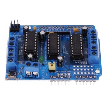 L293D Motor control Drive Shield Expansion Board for Arduino MegaUNO (Blue) - intl - 4