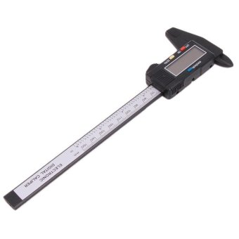 LALANG Electronic Digital Caliper 0-150mm Vernier Caliper Measuring Tool (Black)