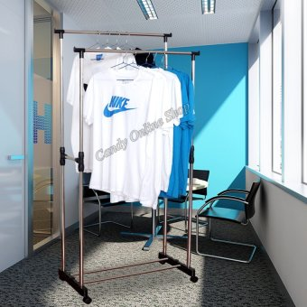 L&T Diy Double Pole Stainless Steel Clothes Rack