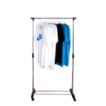 L&T Single-Pole Stainless Steel Clothes Rack