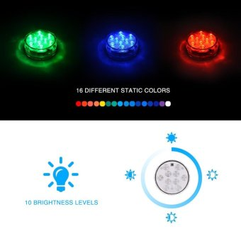 Lan Yu Litake 4 Packed Submersible Lights RGB Multi-colorWater-resistant IP67 With Remote Control Floral Decoration forAquarium Pond Vase Base Party Wedding Halloween Christmas HolidayLighting - intl - 3