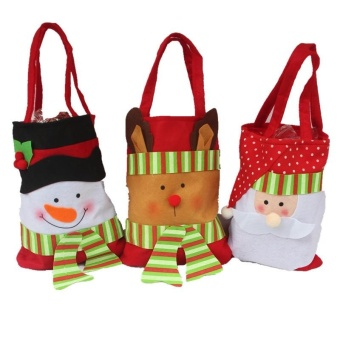 Lan Yu Personalized Christmas Festival Party Toys Cloth Gift Craft Bag Christmas Santa Hot Sales - intl - picture 2