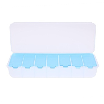 Large 7 Compartment Holder Convenient Jewelry Contact Lens StorageBox - intl Price Philippines