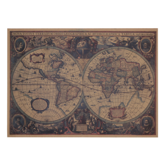 Large Classical Style Retro Paper Poster Old World Map Home Decoration - intl