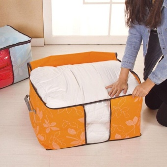 Large Clothes Quilt Bedding Duvet Zipped Handles Laundry PillowsStorage Bag Box - intl