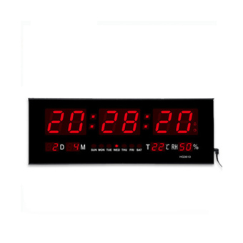 Large Digital LED Wall/Desk Time Calendar Alarm Clock (Black) - intl