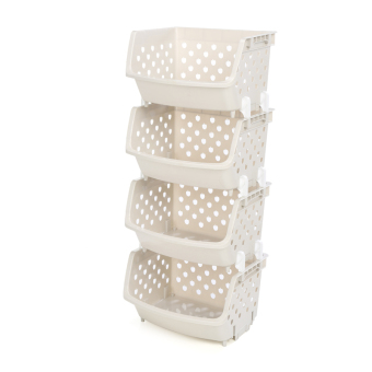 Large floor storage rack basket kitchen shelf