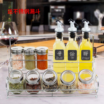 Large leak-proof seal kitchen condiment box glass spice jar