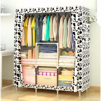 Large Size Quality Fashion Simple Multifunction Cloth Wardrobe Storage Cabinets C-77130 - 4