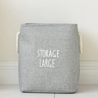 Large Waterproof Folding Laundry Hamper Bag Washing Storage BasketToys Storage Bags Foldable Clothes Pouch Storages Organizer ( Grey) 43x33x42cm - intl