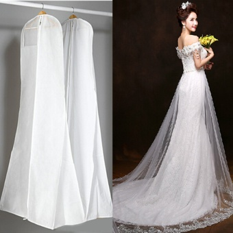 Large Wedding Dress Bridal Gown Garment Dustproof Breathable Cover Storage Bag - intl
