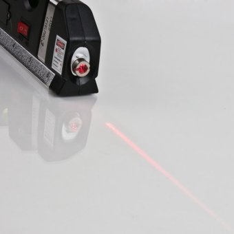 Laser Level Horizon Vertical Measure 8FT Aligner Standard and Metric Ruler