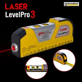 Laser Level Pro 3 with Tape Measure Perfect Construction Buddy