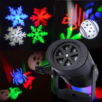 Laser Projector Lamps LED Stage Light Heart Snow Spider Bowknot Bat Christmas Party Light Landscape Light - intl