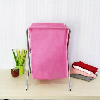 Laundry Hamper (Pink) - 3