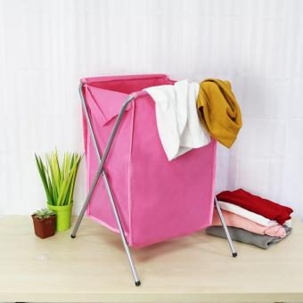 Laundry Hamper (Pink) - 4