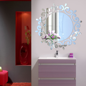 Laundry room mirror living room entrance decorative wall stickers