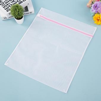 Laundry Underwear Net Mesh Washing Machine Bag Socks Lingerie Bra Bag-23 cm x 30 cm(White) (White) - intl - 2