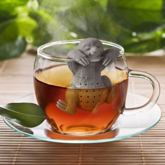 Lazy Sloth Tea Infuser Silicone Reusable Portable Tea StrainerCoffee Herb Filter Empty Tea Bags Loose Leaf Diffuser Accessories -intl