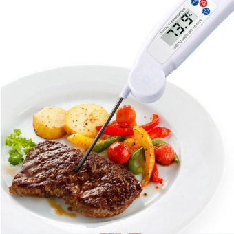 LCD Digital Folding Probe Fast Food BBQ Barbecue Meat ThermometerCatering Cook - intl