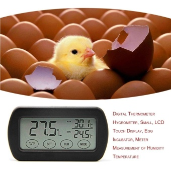 LCD Display Egg Incubator Thermometer Hygrometer Meter of Humidity Temperature Black - intl