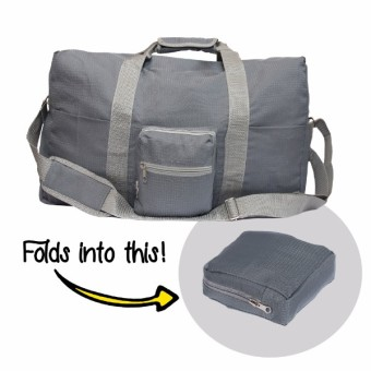 Le Organize Alphra Ripstop Foldable Small Duffle Bag - Grey