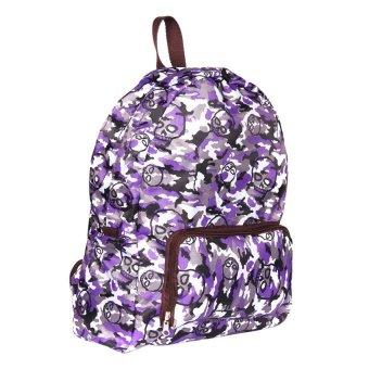 Le Organize Foldable Skull Backpack (Purple)
