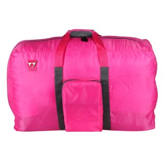 Le Organize Nylon Foldable Vacation Bag (Pink/Gray)