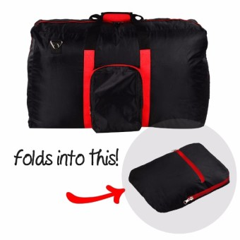 Le Organize Vouyer Nylon Foldable Large Duffle Bag - Black