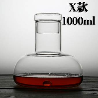 Lead-free crystal glass decanters is