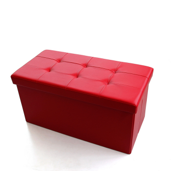 Leather man sofa changing his shoes stool storage stool