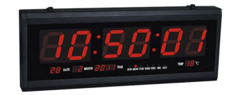 LED Digital Calendar Wall Clock (Red Led Light) Price Philippines