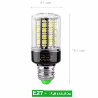 LED E27 Corn Light Bulb 15W 132LED