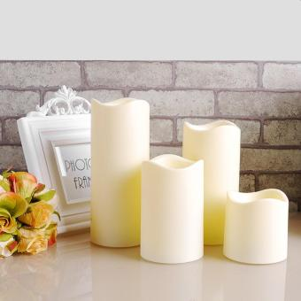 LED Flameless Wax Mood Candles Lights For Home Wedding Party size 7 5 .