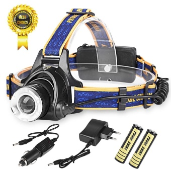 LED Headlight Torch 6000Lm XM-L T6 Headlamp Head Light Lamp 18650 Charger - intl