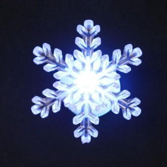 LED Lighted Snowflake Christmas Window Decoration (Color Random) - intl - picture 2
