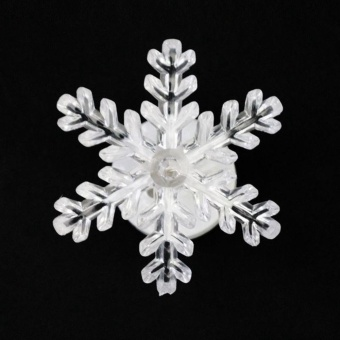 LED Lighted Snowflake Christmas Window Decoration (Color Random) - intl
