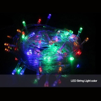 LED String Lights, 80 Leds 33ft/10m Christmas LED Rope Light,Waterproof Fairy Copper Wire Lights for Christmas Wedding HalloweenPatio Party Decorations Color:Multicolor - intl