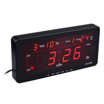 LED Stylish Digital Display Wall or Desk Clock WithMonth,Week,AM:PM, Temperature and Alarm clock