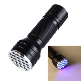 LED Uv Light, Mini Flashlight, Portable Light, Used To FindScorpions And Bedspreads, Fake, 1 / C Leaks, Pet Stains,Counterfeit Detector - intl