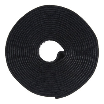 Leegoal 4.5 Meter Self Adhesive Hook and Loop Tape Cable Ties Roll(1 Roll,Black) - intl - 2